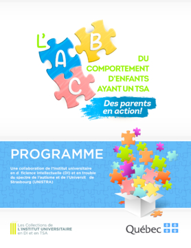 Programme L'ABC du comportement d'enfants ayant un TSA : des parents en action!